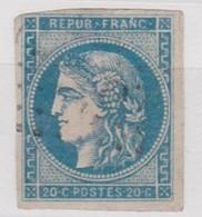 FRANCE YT N°45 B OBLITERE - 1870 Emission De Bordeaux
