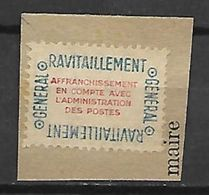 FRANCE    -     1946.   Timbre De Ravitaillement.  Affranchissement En Compte Avec La Poste.  Neuf Sur Fragment. - Revenue Stamps