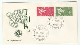 1961 ITALY FDC EUROPA Stamps SPECIAL Pmk PHILATELIC EXHIBITION NAPLES Cover - 6. 1946-.. República