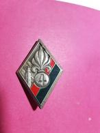 Insigne, Légion 4ème Régiment Etranger D'Infanterie, Dos Guilloché, Drago, Garanti Original, Port& Frais Compris - Insignes & Rubans