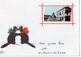 17  SAINT MARTIN DE COUX  UNE GROSSE BISE  CHAT  -  CPM 1950 / 60 - France