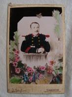 Ancienne Photo Grande Cdv ( Carton 16,5 Cm Par 11 Cm )  Militaire A Identifier  Guiglion Constantine   N 14 - Guerre, Militaire