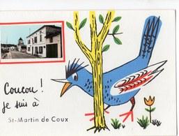 17  SAINT MARTIN DE COUX   COUCOU JE SUIS A ST MARTIN   -  CPM 1950 / 60 - France