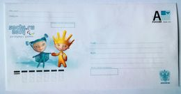 RUSSIA 2012. Sochi 2014. Mascots. Snowflake & Ray Of Light. Prestamped Envelope. Mint - 1992-.... Federazione
