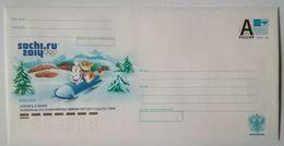RUSSIA 2012. Sochi 2014. Mascots. Bobsled. Leopard & Hare. Prestamped Envelope. Mint - 1992-.... Federazione
