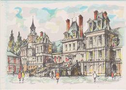 Carte Postale       BARRE  DAYEZ         FONTAINEBLEAU      Le Palais -   Cour Des Adieux     2136  A - Fontainebleau