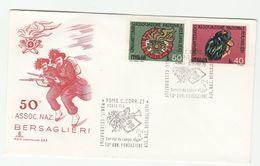 1974 ITALY FDC BERSAGLIERI Army SPECIAL Pmk PORTA PIA ROMA C CORR ZE Illus Hat Trumpet Music Cover Military Forces Stamp - Militaria