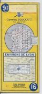 MICHELIN 1/200000  Environs De Lyon - Roadmaps
