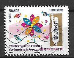 FRANCE   -   Nouveauté 2018 .   Oblitéré.     Timbre à Gratter  /  Bonbons . - France