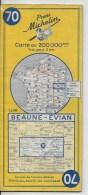 MICHELIN 1/200000  Beaune Evian - Cartes Routières