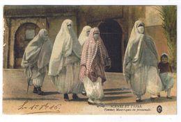 SCENES ET TYPES  FEMMES MAURESQUES EN PROMENADE - Szenen