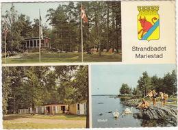 Mariestad: Cafetaria, OPEL KADETT-B,  Tentes  - Campinghyffer -  Strandbadet - (Sweden) - Passenger Cars