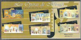 Blocs Souvenirs Mozart N° 7 à 12 - Souvenir Blocks & Sheetlets
