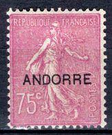 Andorre - 1931 - Semeuse Fond Ligné - N° 17 - Neuf * - MLH - Andorre Français
