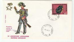1974 Goito ITALY FDC BERSAGLIERI Army 1836 UNIFORM , GUN, Cover Military Forces Stamps - Militaria