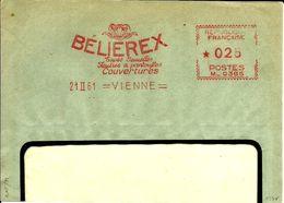 Lettre  EMA Havas M Belierex Textiles Animaux Mammiferes Belier Vienne   B/1368 - Poststempel (Briefe)
