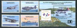 214 VANUATU 1992 - Yvert 883/86 BF 19 - Avion - Neuf ** (MNH) Sans Trace De Charniere - Vanuatu (1980-...)