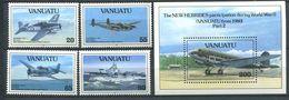 214 VANUATU 1993 - Yvert 911/14 BF 21 - Avion - Neuf ** (MNH) Sans Trace De Charniere - Vanuatu (1980-...)