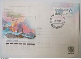 RUSSIA 2012. Sochi 2014 Paralympics Mascots. Prestamped Card. First Day Postmark Moscow - Inverno 2014: Sotchi