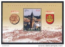 LITHUANIA 2002 750th Anniversary Of Klaipeda Block MNH / **.  Michel Block 26 - Lithuania