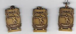 3 Medailles Foot 1957 - La Hulpe