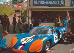 72. 24 HEURES DU MANS. RARETÉ. ALPINE 3 LITRES A SON STAND. ANIMATION GRAND FORMAT - Le Mans