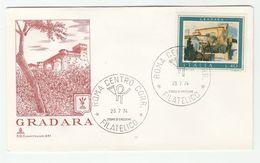 1974 ITALY FDC  GRADARA CASTLE Stamps Cover - 6. 1946-.. República