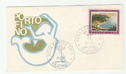 1974 ITALY FDC Portofino MERMAID Cover Stamps - Mythology