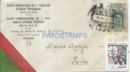 85465 PORTUGAL VIANA DO CASTELO COVER YEAR 1934 EXPOSICION COLONIAL CIRCULATED TO PORTO NO POSTAL POSTCARD - Portugal
