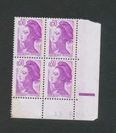TIMBRE -  TYPE LIBERTE DE GANDON N°2220 - COIN DATE 13.6.86 NEUF - Esquina Con Fecha