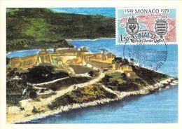 MONACO CARTE MAXIMUM  NUM.YVERT 1207 450 ANS DE LA VISITE DE CHARLES QINT - Maximumkarten (MC)