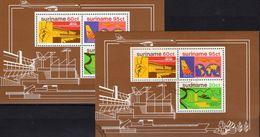Karte 1978 Surinam Block 21 **/o 6€ Kraftwerk/Staudamm Fluß-Verlauf Flugzeug Blocs Ss Industry River Sheets Bf Maps - Surinam