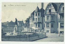 De Panne  *  Les Villas Et Le Monument - De Panne
