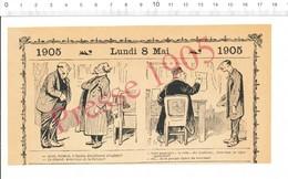 2 Scans Humour 1905 Préfecture De Police Passeport écrevisses Photo Madame De Pompadour 216PF10H - Vieux Papiers