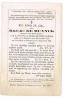 Eeklo, Lembeke: 1889, Rozalie De Muynck  ( 2 Scans) - Images Religieuses