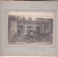 Photographie Photo Originale Famille Courthial Lassuchette Acqueville Départ En Calèche 1894 Ref 201794 - Personnes Identifiées