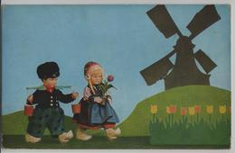 Holländische Puppen Mit Windmühle - Puppen Lenci Stofftiere M. Steiff Serie 433, Nr. 5645 - Jeux Et Jouets