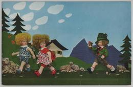 Puppen Auf Wanderschaft - Lenci, Stofftiere M. Steiff Serie 433 Nr. 5641 - Jeux Et Jouets