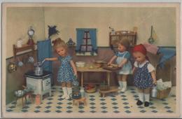 Puppen - Küche Beim Backen Und Kochen - Jeux Et Jouets