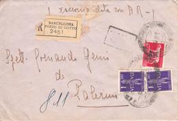 Serie Pegaso Posta Aerea Lire 1 , Barcellona Pozzo Di Gotto Per Palermo, 05.4.45 - 1900-44 Vittorio Emanuele III