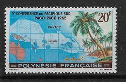 1962  Polynesie Française N° 17 Nf **. MNH . Conférence Du Pacifique Sud à Pago-Pago . - Frans-Polynesië