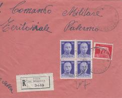 Regno Storia Postale - Affrancatura Mista , Pace Di Messina Per Palermo, 1.7.45 - 1900-44 Vittorio Emanuele III