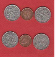 Guyana / Lot De 3 Monnaies - Guyana