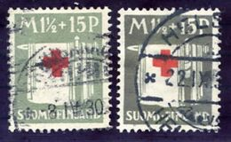 FINLAND 1930 Red Cross 1½ M.in Light And Dark Grey Shades, Used.  Michel 159 - Finland