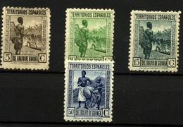 1942- Guinea Española Nº 246/8, 250 - Guinée Espagnole