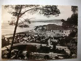 Carte Postale Nice (06) Panorama Vu Du Mont Boron (Noir Et Blanc Oblitérée 1952 Timbre 8 Francs  ) - Nice