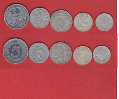 Autriche / Lot De 5 Monnaies - Autriche