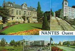 Nantes Belle Multi-vues Les Dervallières Place Des Châtaigniers La Mairie De Chantenay Le Musée Jules Verne - Nantes