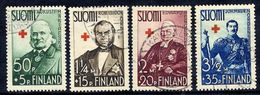 FINLAND 1938 Red Cross, Used.  Michel 204-07 - Finland