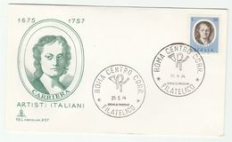 1974 ITALY FDC CARRIERA Art  Stamps Cover - Art